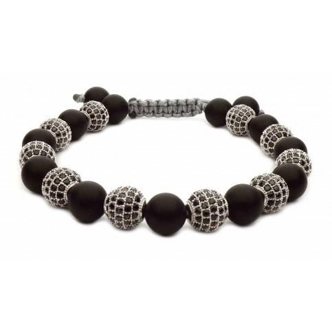 Le bracelet perles noir et argent
