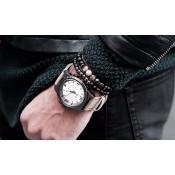 bracelet perles hematite grises et noir homme