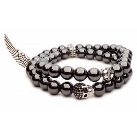 Le bracelet hématite skull