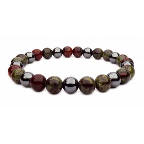 bracelet tibétain petites perles Jaspe et Hématite
