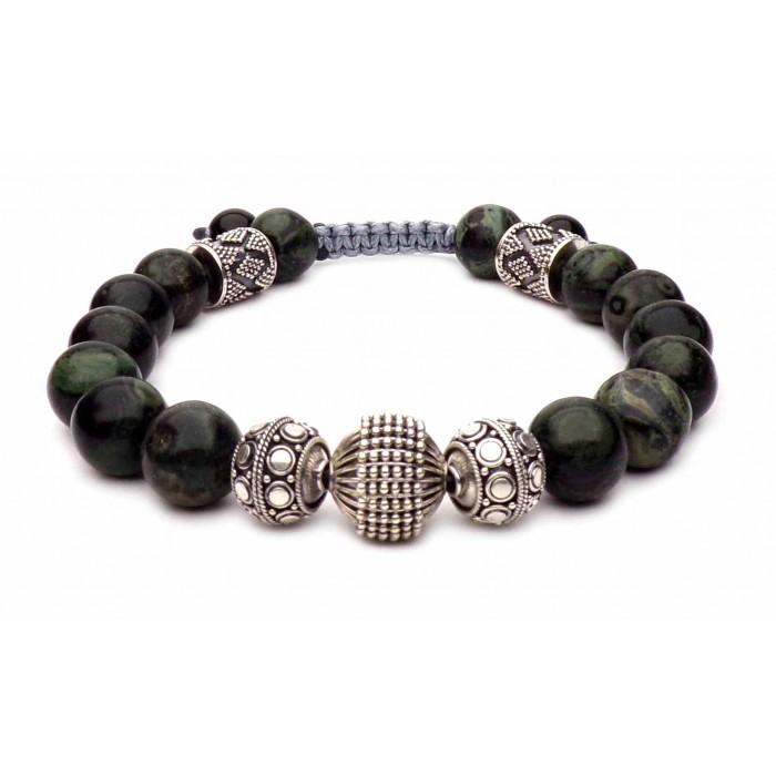 bracelet shamballa perles Jade vert