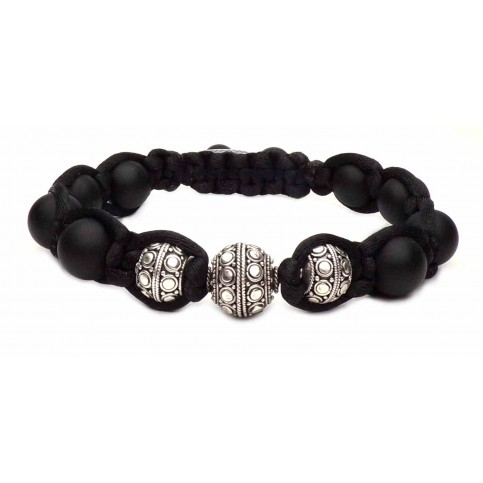 bracelet shamballa noir
