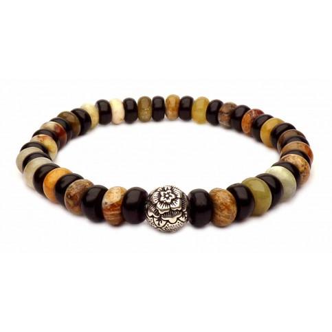 Le bracelet perle de pivoine argent