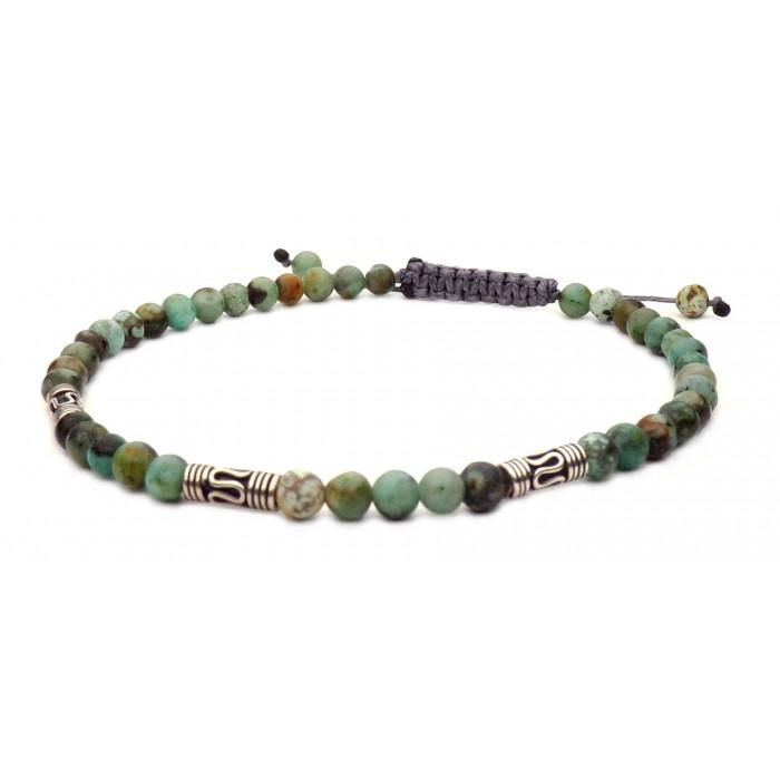 bracelet shamballa mini perles Agate Africaine vertes