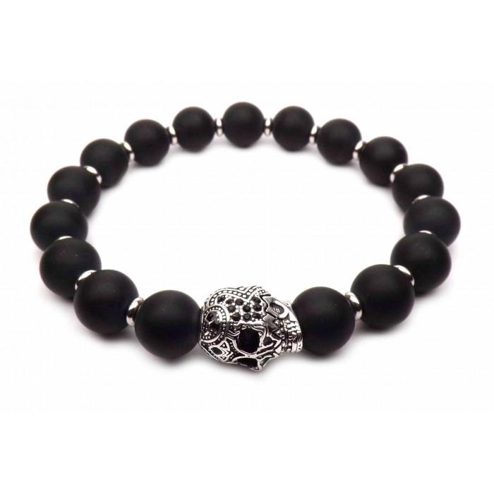 bracelet tete de mort argent homme de marque