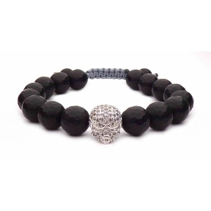 bracelet skull argent