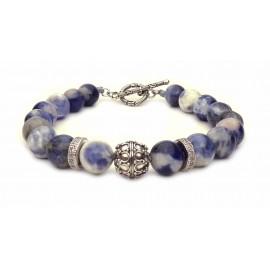 Le bracelet Sodalite fermoir en T