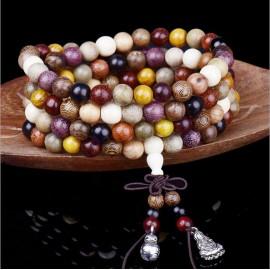 bracelet Mâlâ bois 108 perles