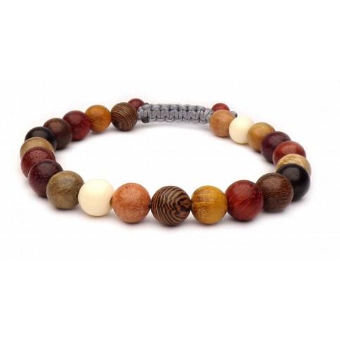 bracelet shamballa perles bois