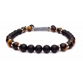 Le bracelet perles Onyx et Oeil de tigre