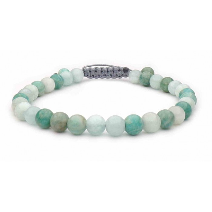 bracelet lien avec perles Amazonite petites