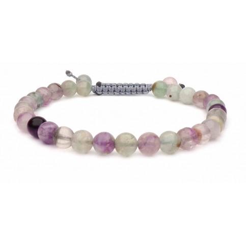 Le bracelet perles Fluorite multicolore