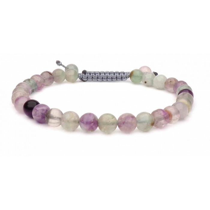 bracelet ficelle avec perles en Fluorite
