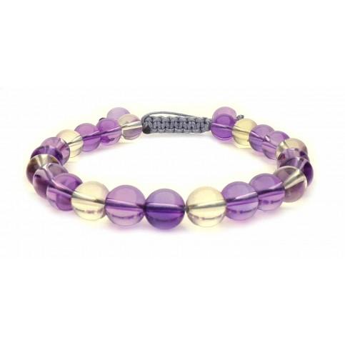 Le bracelet perles Amétrine de Bolivie