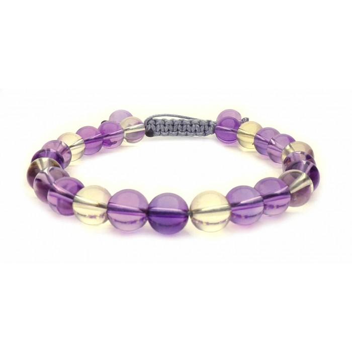bracelet shamballa perles Amétrine
