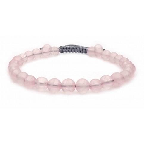 Le bracelet perles en Quartz rose