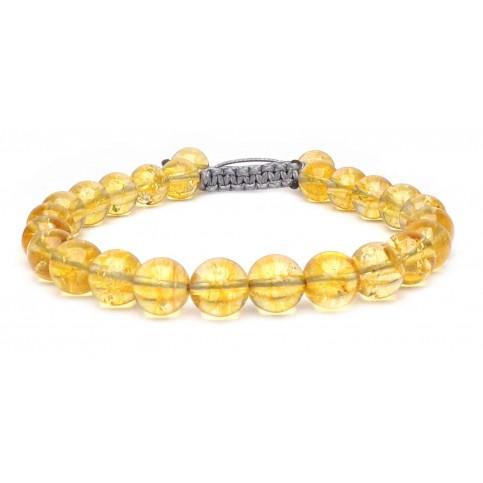 bracelet shamballa Citrine