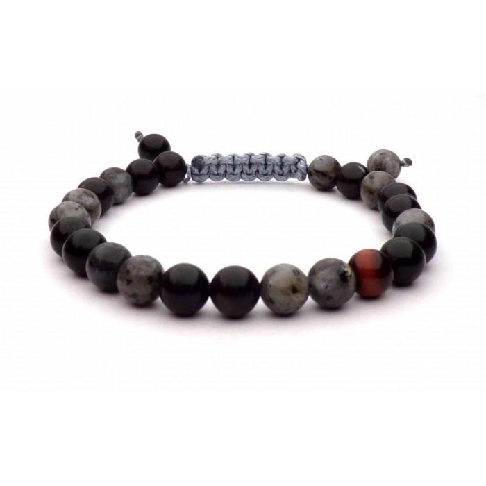 bracelet fil shamballa avec perles (boules) multicolors sombre