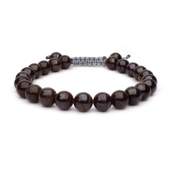 bracelet perles pierre Tigre de fer
