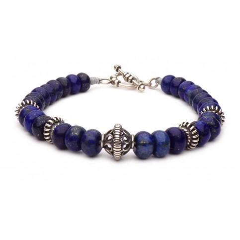 Le bracelet Lapis Lazuli fermoir en T