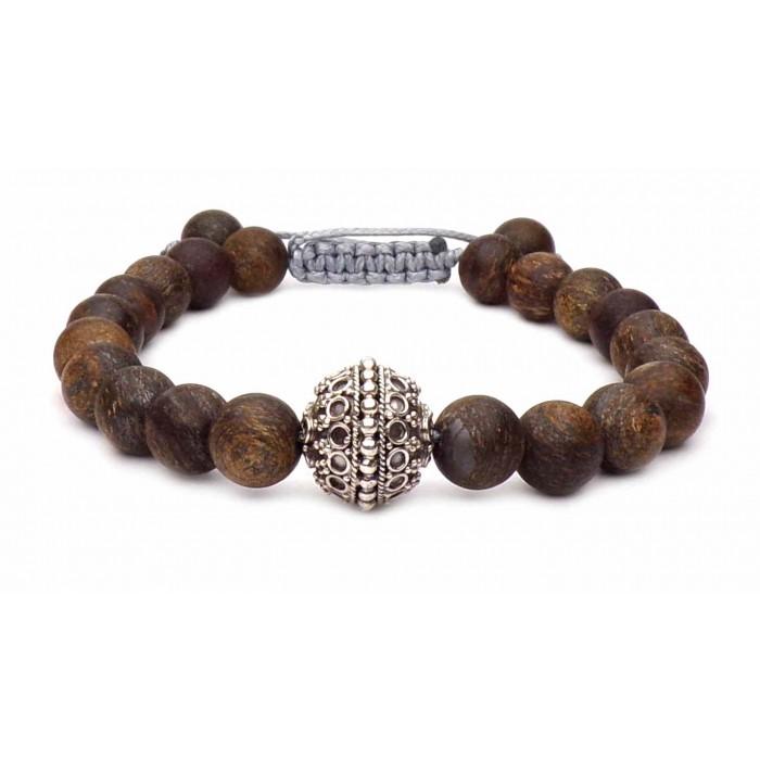 bracelet pierre Bronzite sur fil