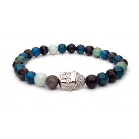 bracelet bouddha argent apatite