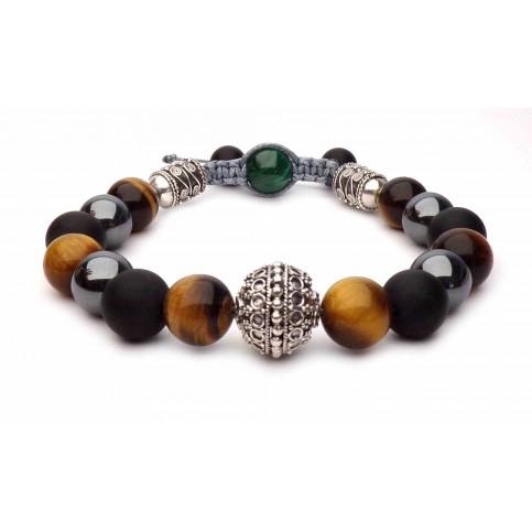 Le bracelet Hématite et Oeil de tigre