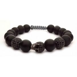 Le bracelet skull tete de mort noir