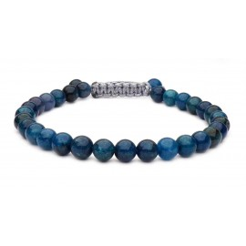 Le bracelet perles bleu Apatite