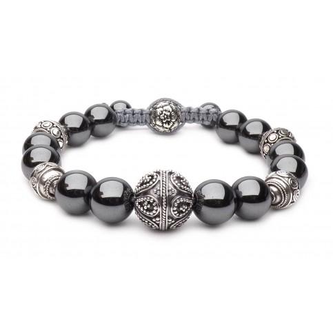 Le bracelet hématite Pivoine porte bonheur