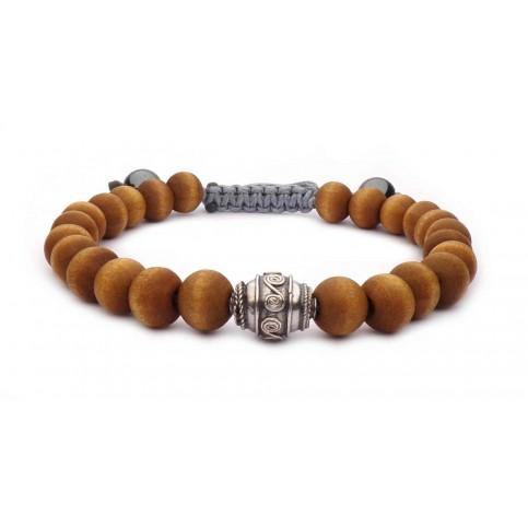 Bracelet perles bois wenge