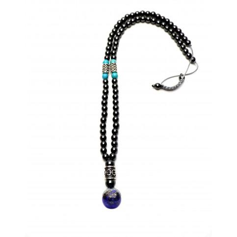 collier viking Lapis Lazuli hematite