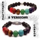 bracelet 7 chakras élastique ou cordon