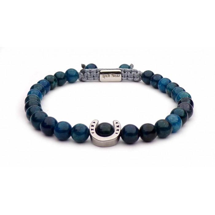 bracelet fer a cheval perls apatite bleu