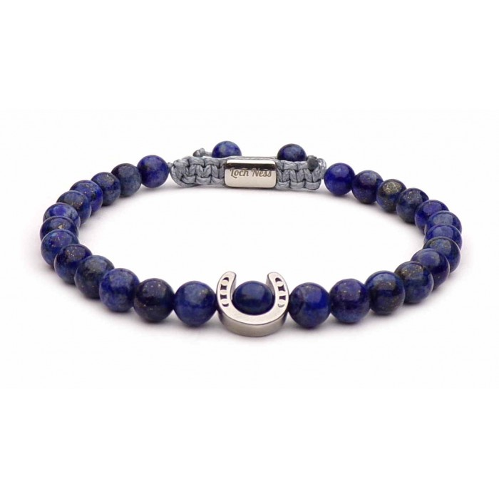 bracelet fer à cheval lapis lazuli