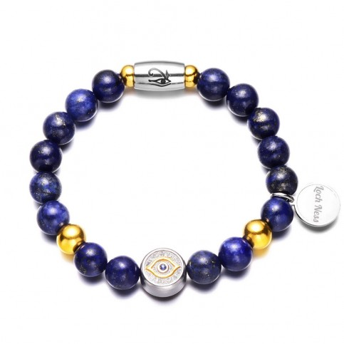 bracelet oeil turc perles bleu