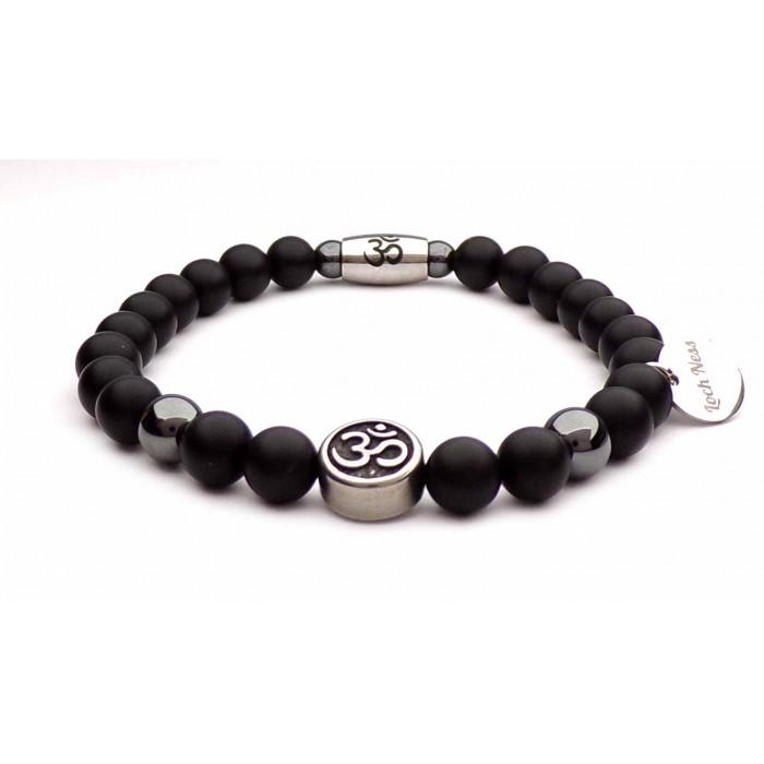 bracelet Om̐  perles noir