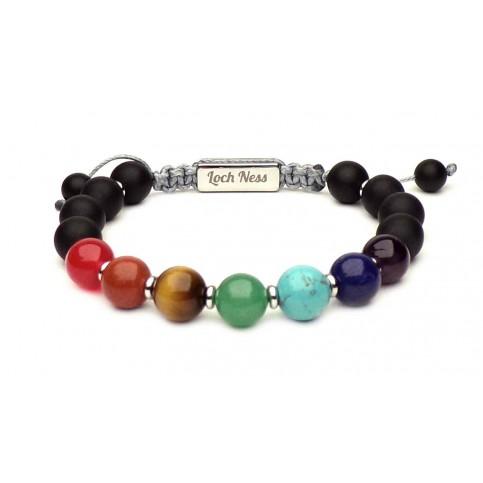 Le bracelet 7 chakras argent