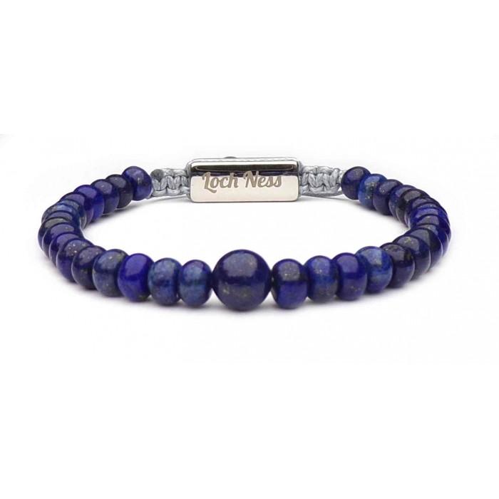 Bracelet shamballa lapis lazuli