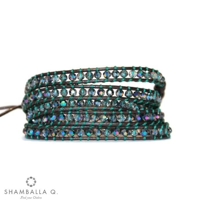 Bracelet wrap multi rang en cristal swarovski