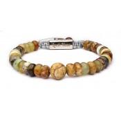 Bracelet shamballa Jaspe marron