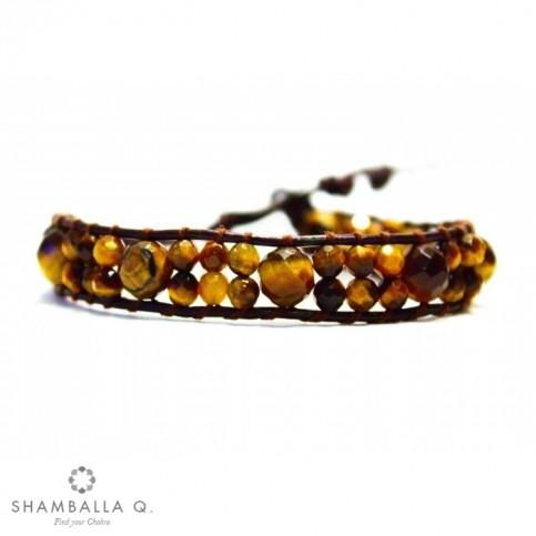 Bracelet a enrouler marron