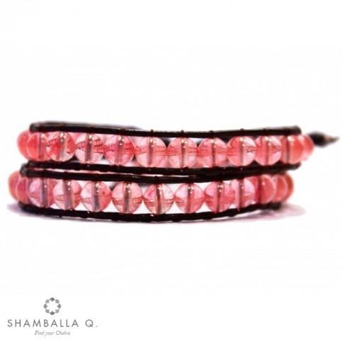 bracelet a enrouler rose pour femme