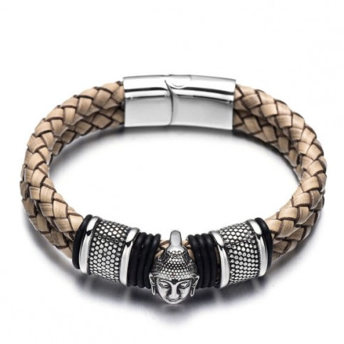 Le bracelet cuir et Bouddha