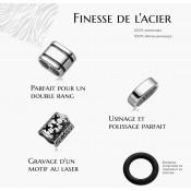 bracelet cuir et acier : fiche informations