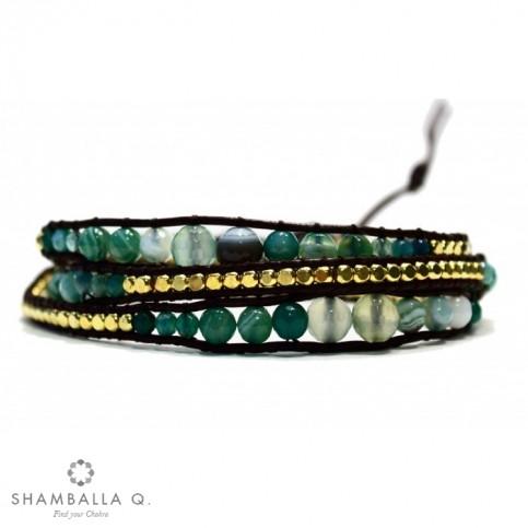 Bracelet wrap a enrouler vert