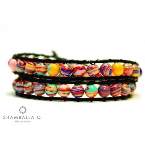 bracelet wrap multi rang bijoux multicolor