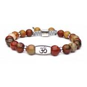 Le bracelet symbole om jaspe