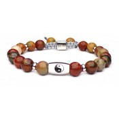 Le bracelet symbole yin yang jaspe