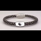 Le bracelet yin yang en galuchat gris
